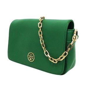 TORY BURCH Green Robinson Shoulder Bag